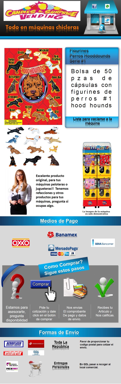 cápsulas Perros hood hounds #1 vending